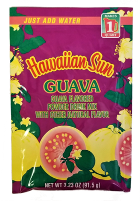 Hawaiian Sun Powdered Guava Nectar Drink Mix 3.23 oz