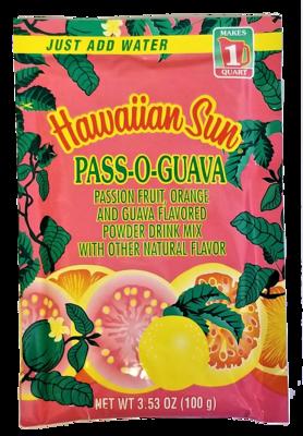 Hawaiian Sun Powdered Pass-O-Guava Nectar Drink Mix 3.53 oz