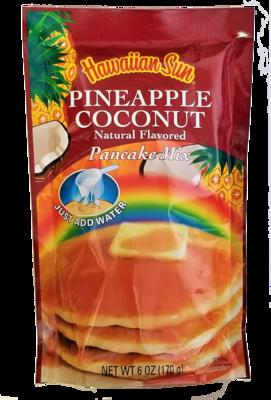Hawaiian Sun Pancake Mix-Pineapple Coconut 6 oz
