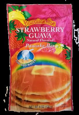 Hawaiian Sun Pancake Mix-Strawberry Guava 6 oz