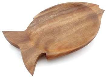 """Wooden Dish  Fish Tray 1"""" x 7.25"""" x 12"""""""