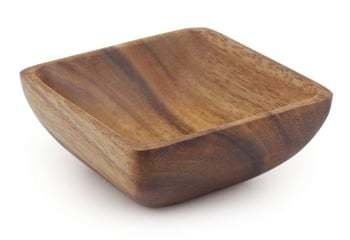 Wooden Square Sauce Dish