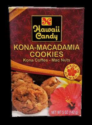 Hawaii Candy Kona Coffee Macadamia Nut Cookies 5 oz