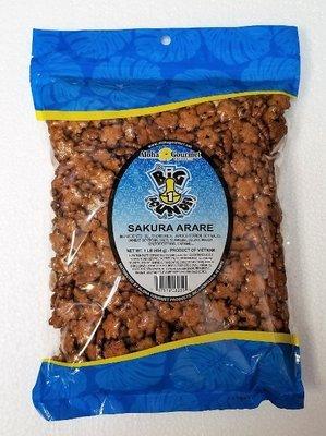 Aloha Gourmet Da Big 1 Pounder Sakura Arare 1lb (NOT FOR SALE TO CALIFORNIA)