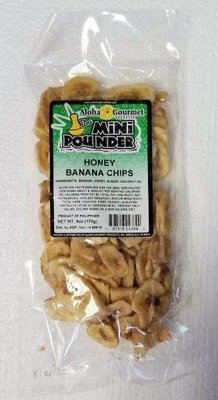 Aloha Gourmet Da Mini Pounder Honey Banana Chips 6 oz