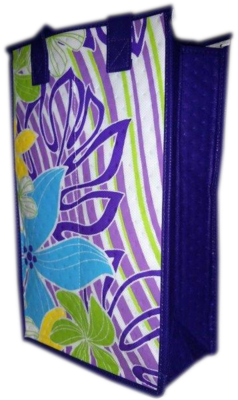 Tropical Paper Garden - Double Wine Bag- Providence Purple