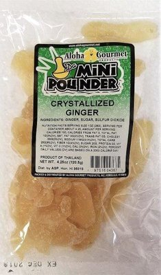 Aloha Gourmet Da Mini Pounder Crystallized Ginger 4.25 oz