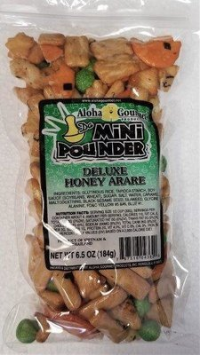 Aloha Gourmet Da Mini Pounder Deluxe Honey Arare 6.5 oz