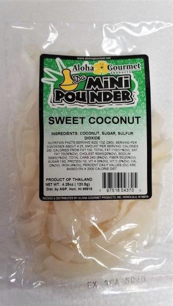 Aloha Gourmet Da Mini Pounder Sweet Coconut 4.25 oz