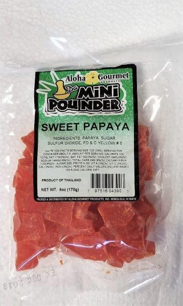 Aloha Gourmet Da Mini Pounder Sweet Papaya 6 oz