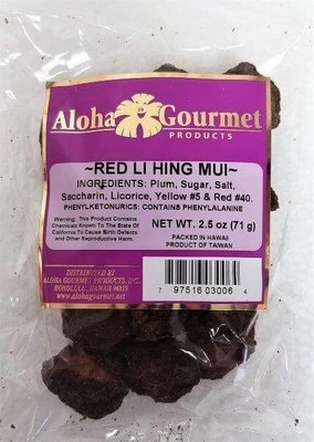 Aloha Gourmet Red Li Hing Mui 2.5 oz (NOT FOR SALE TO CALIFORNIA)