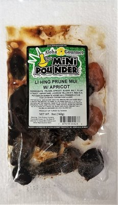 Aloha Gourmet Da Mini Pounder Prune Li Hing Mui with Apricots  5 oz
