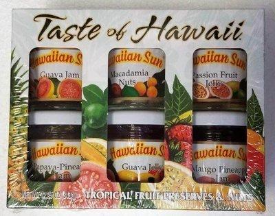 Hawaiian Sun Gift Set Tropical Fruit Preserves & Nuts 12.1 oz