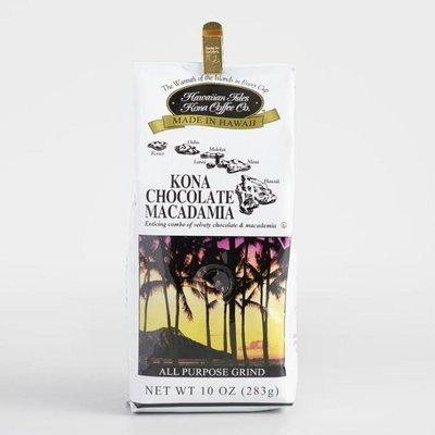 Hawaiian Isles Kona Coffee Chocolate Macadamia Nut Ground Coffee 10 oz