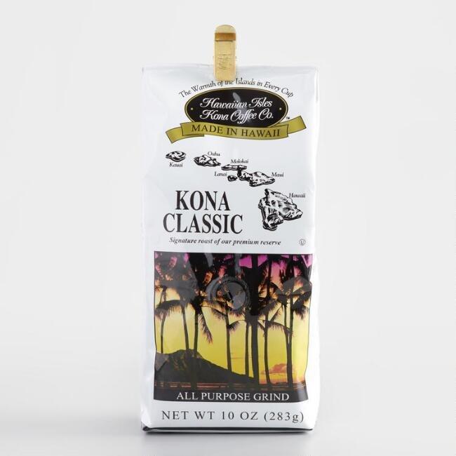 Hawaiian Isles Kona Coffee Kona Classic Coffee 10 oz