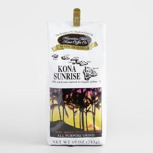 Hawaiian Isles Kona Coffee Sunrise Ground Coffee 10 oz