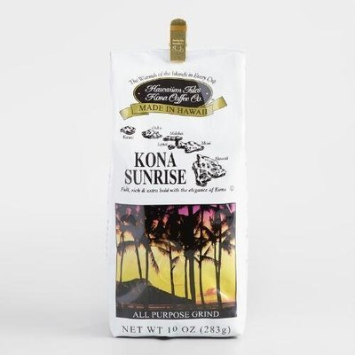 Hawaiian Isles Kona Coffee Sunrise Ground Coffee 10 oz