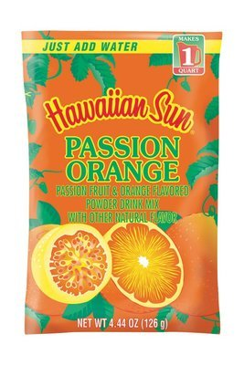 Hawaiian Sun Powdered Passion Orange  Drink Mix 4.44 oz