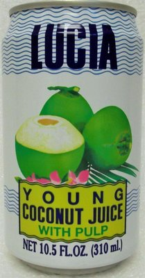 Lucia Young Coconut Juice With Pulp 10.5 oz
