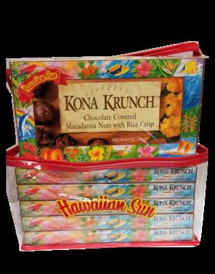 Hawaiian Sun Kona Krunch Nuts 6/6 oz Gift Set