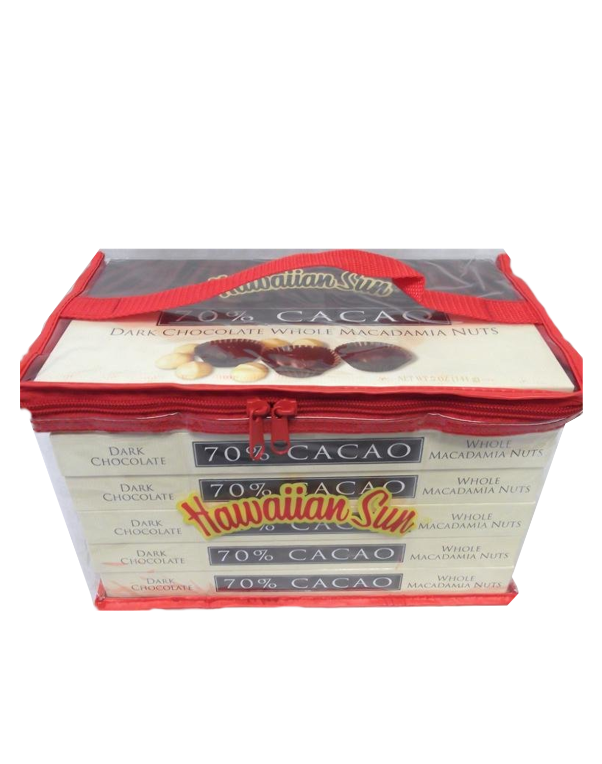Hawaiian Sun Chocolate 70% Cacao Covered Macadamia Nuts 6/5 oz Gift Set