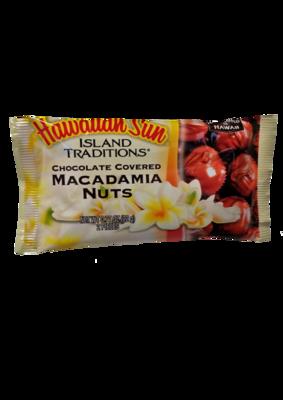 Hawaiian Sun Chocolate Island Traditions Chocolate Covered Macadamia Nuts  .77 oz (2-pk)