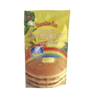 Hawaiian Sun Pancake Mix-Banana Macadamia Nut 6 oz