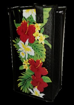 Tropical Paper Garden - Double Wine Bag- Kolama Black