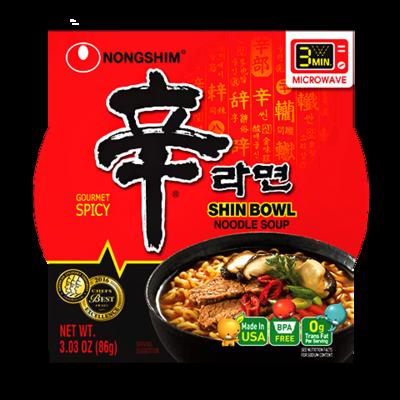 NongShim Bowl Noodle Soup Spicy Flavor 3.03 oz