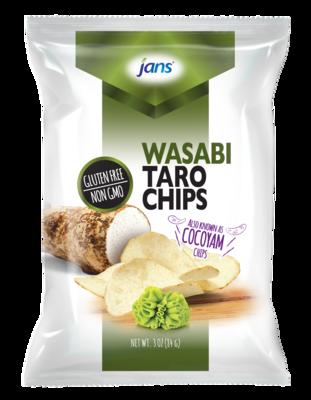 JANS Wasabi Taro Chips 3 oz
