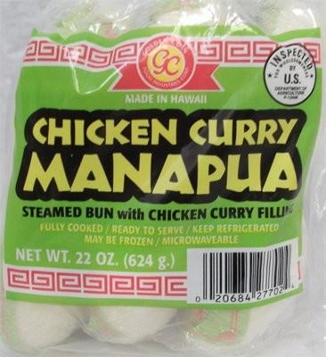 Golden Coin Chicken Curry Manapua 6 ct 22 oz