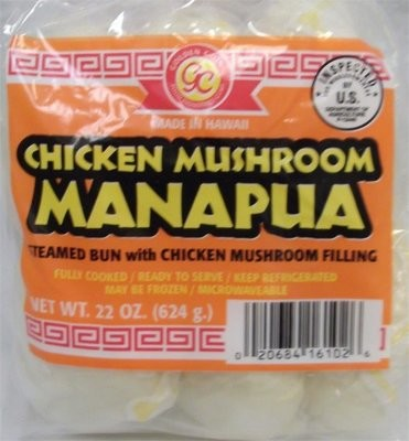 Golden Coin Chicken Mushroom Manapua 6 ct 22 oz