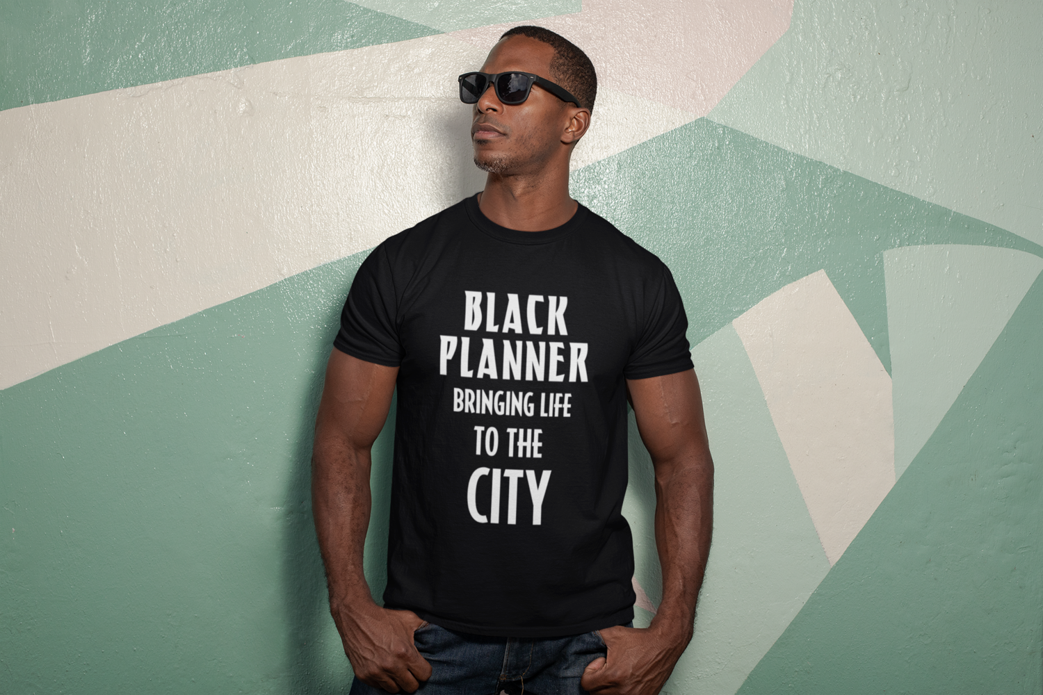 Black Planner Bringing Life to the City Unisex T-Shirt