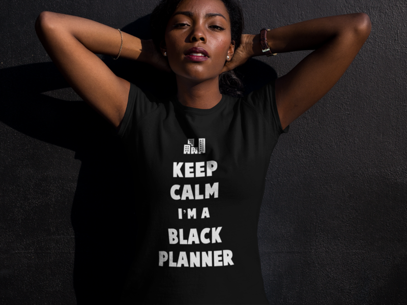 Keep Calm I'm a Black Planner Unisex T-Shirt