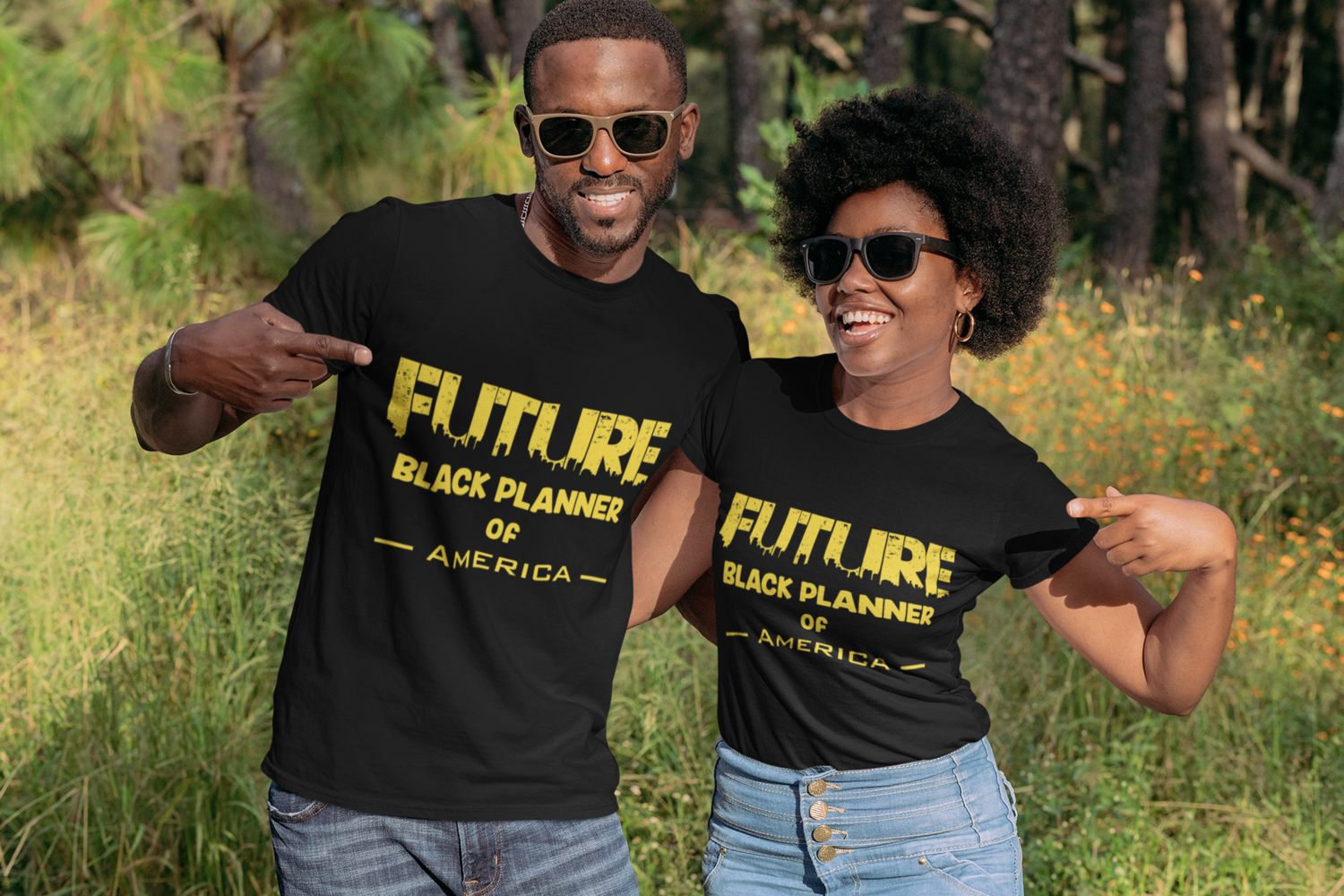 Future Black Planner of America Unisex T-Shirt