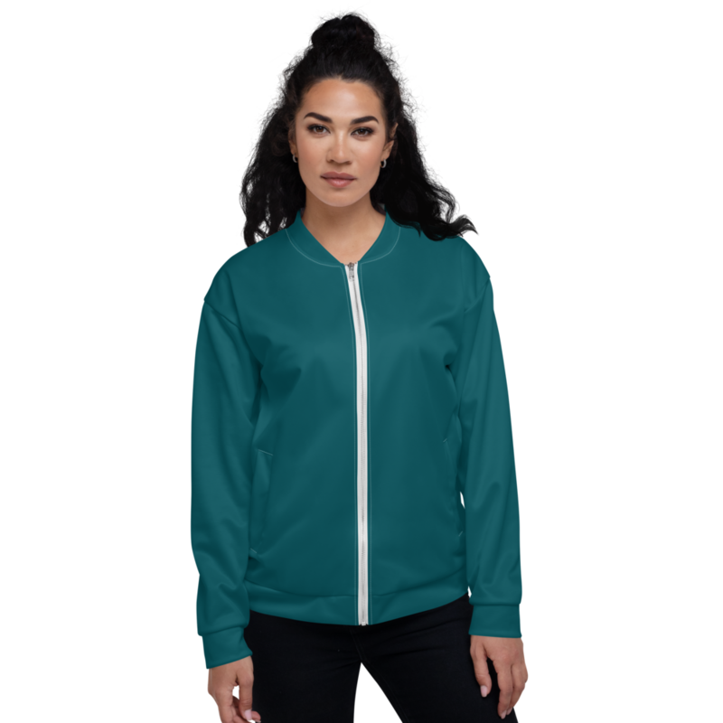 Teal Women's Bomber Jacket