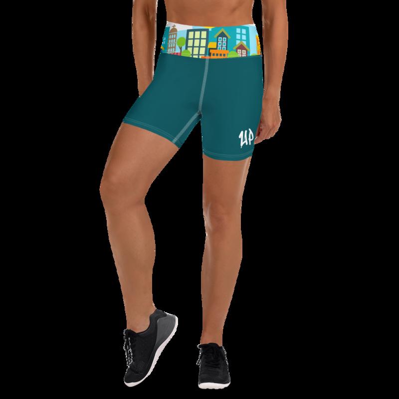 Teal Women's Yoga Shorts