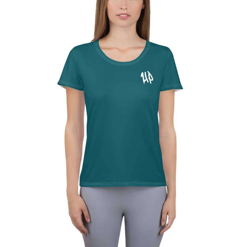 Teal Women's Athletic T-shirt