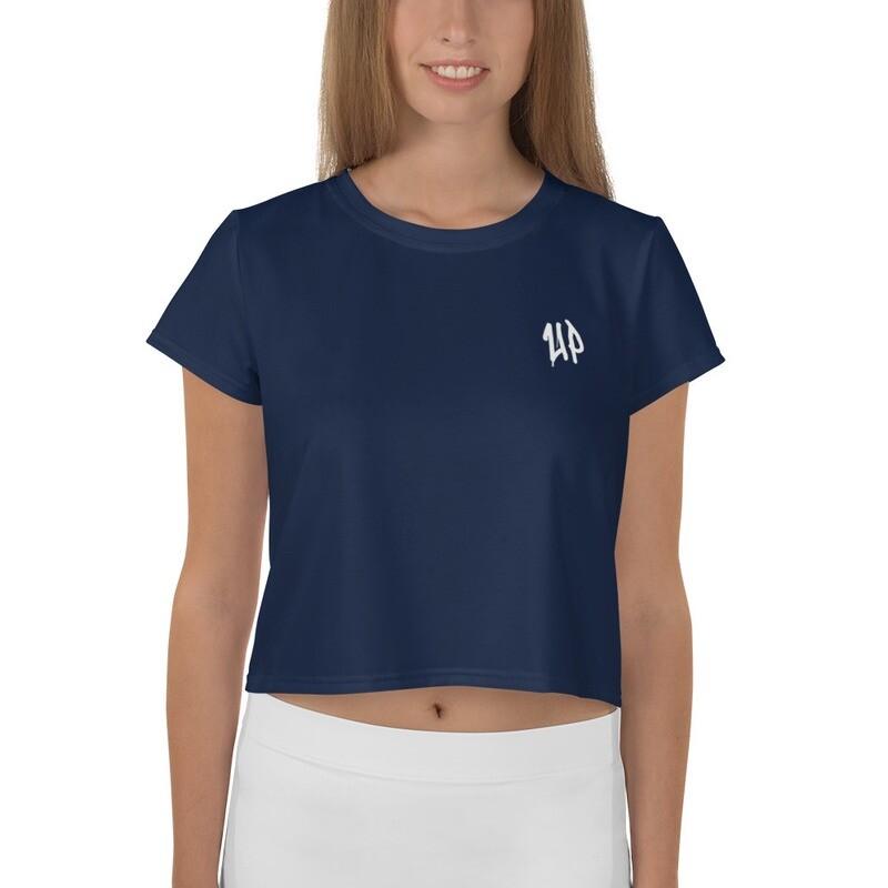 Navy Women's Crop Tee