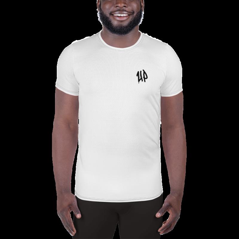 White Men's Athletic T-shirt
