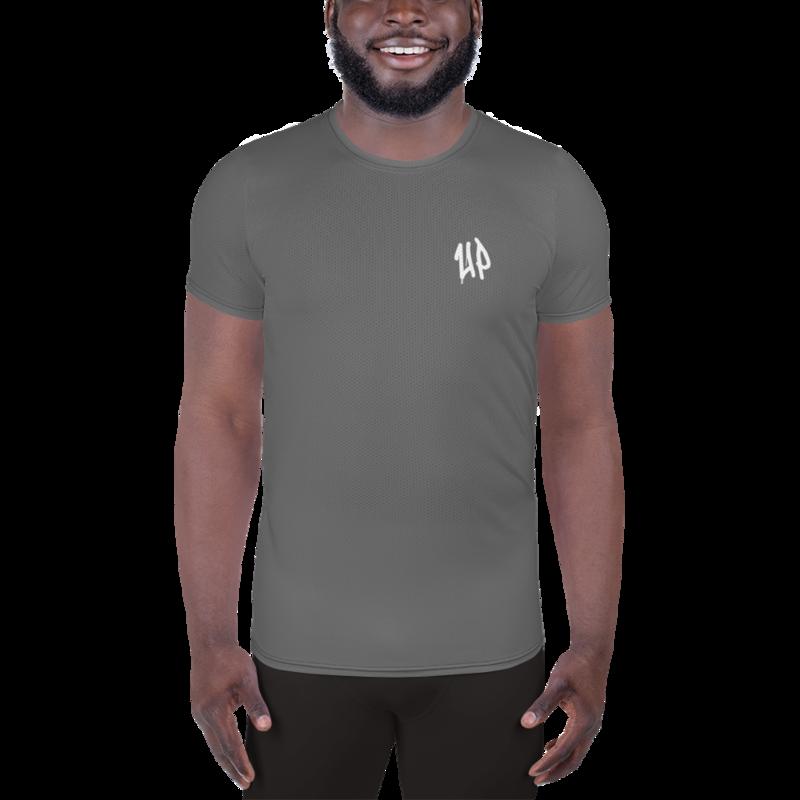 Grey Men's Athletic T-shirt
