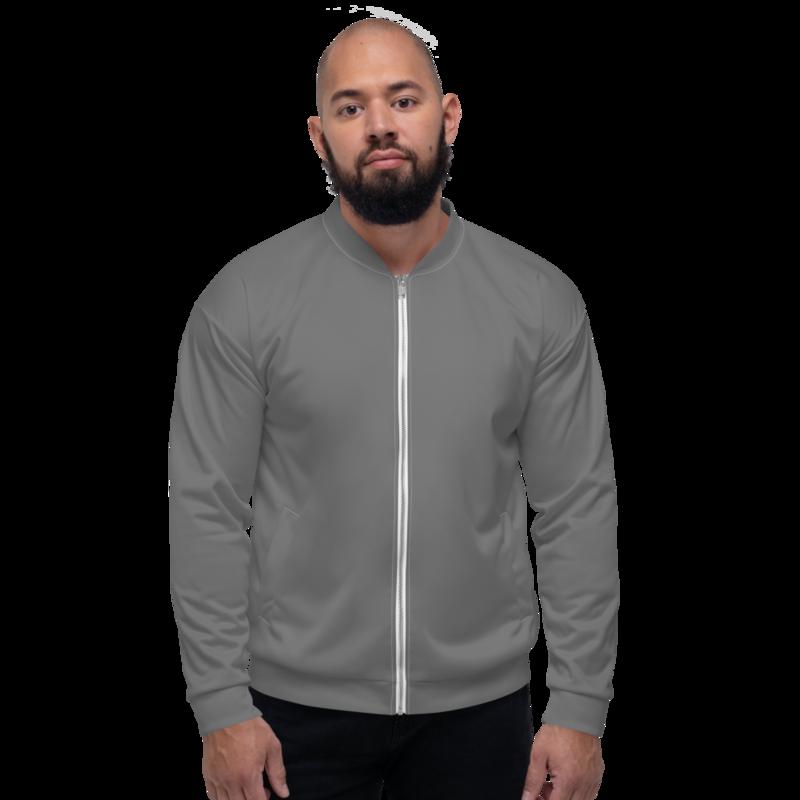 Grey Men's Bomber Jacket