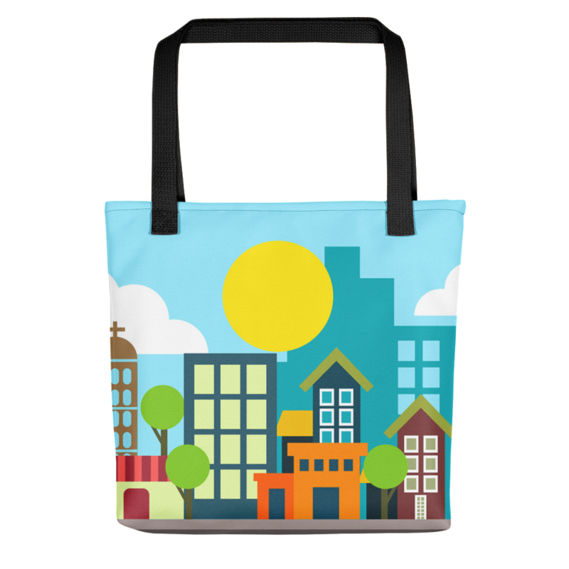 Daytime Cities Tote Bag