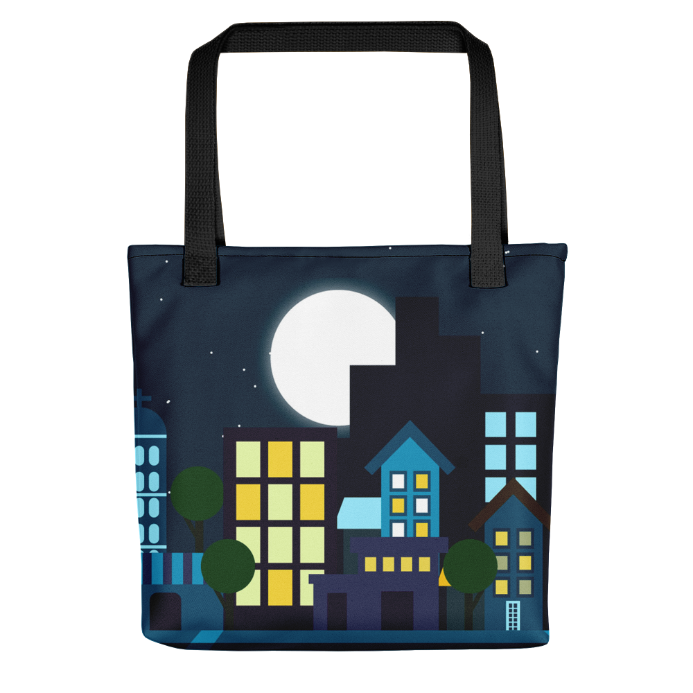 Nighttime Cities Tote Bag