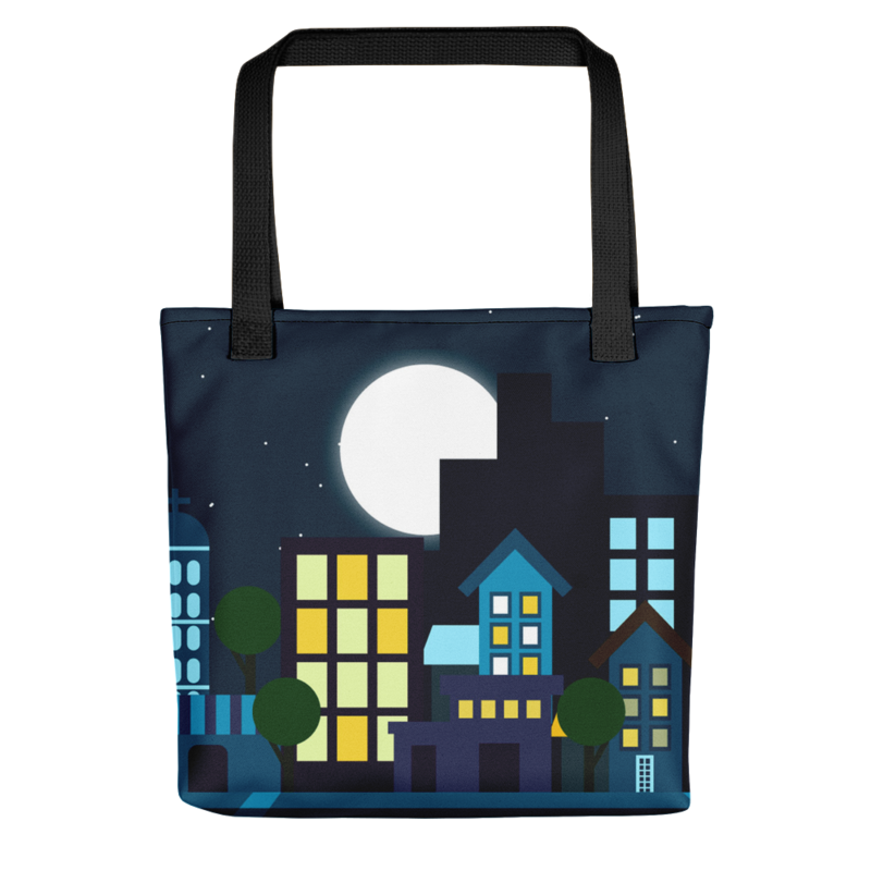 Nighttime Cities Tote Bag