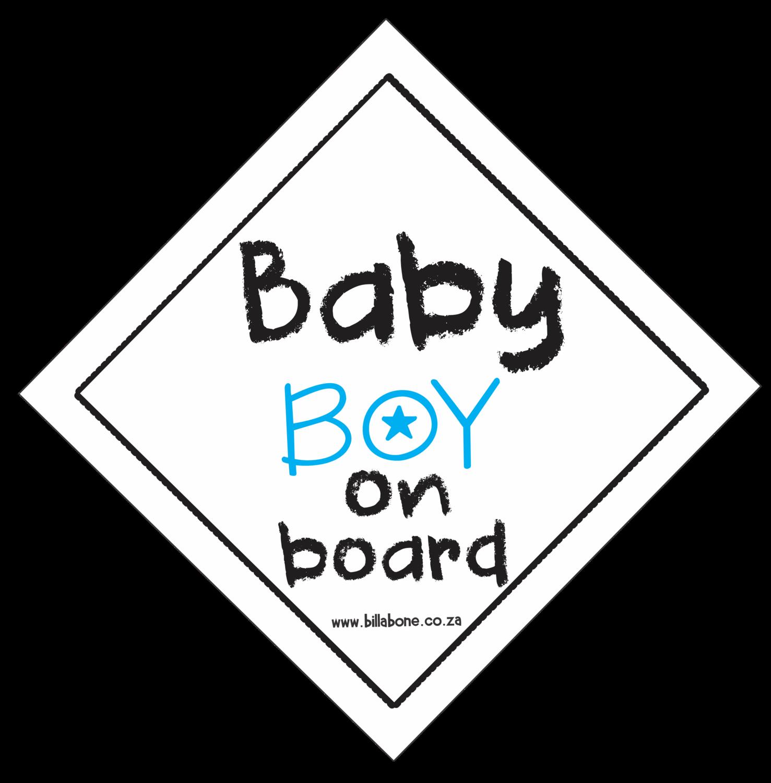 Baby Boy On Board Car Sign or Sticker