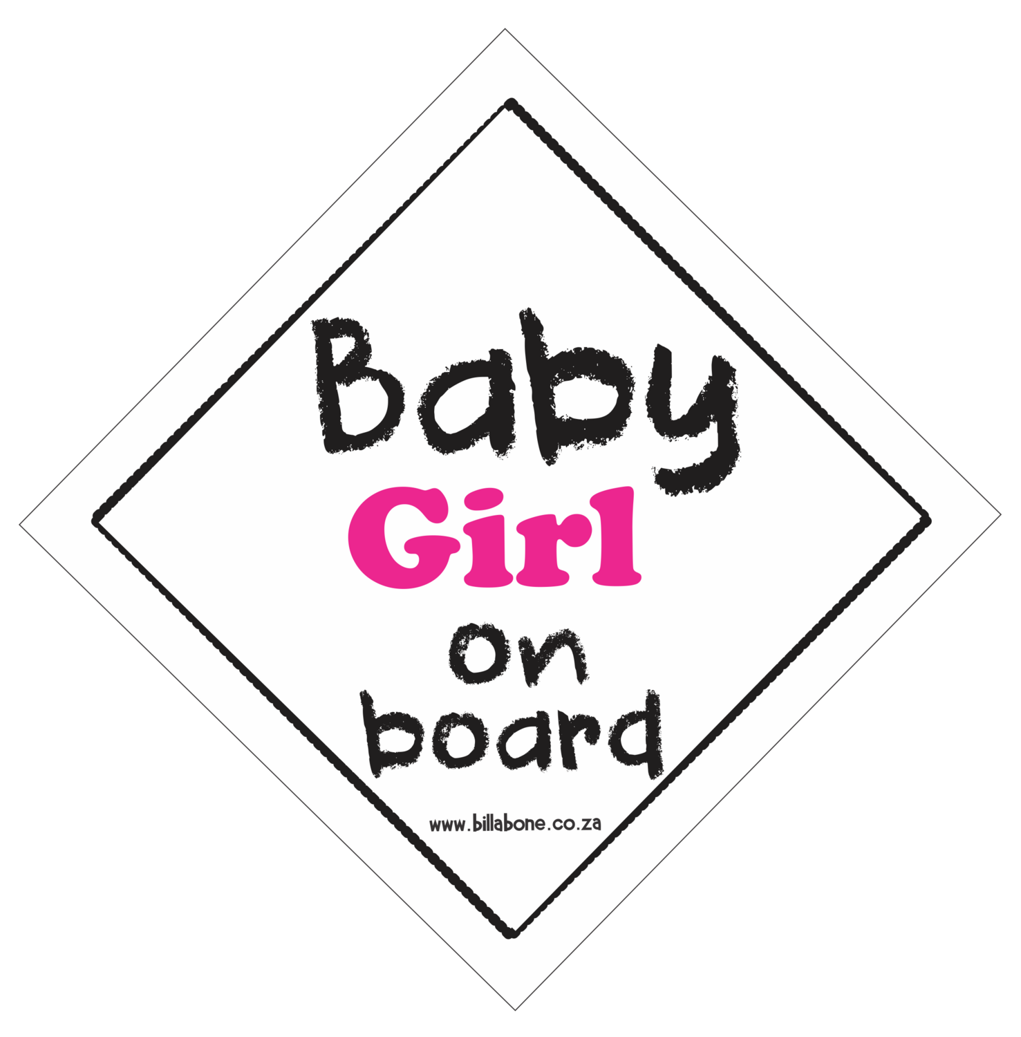 Baby Girl On Board Car Sign or Sticker