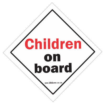 Children On Board Car Sign or Sticker
