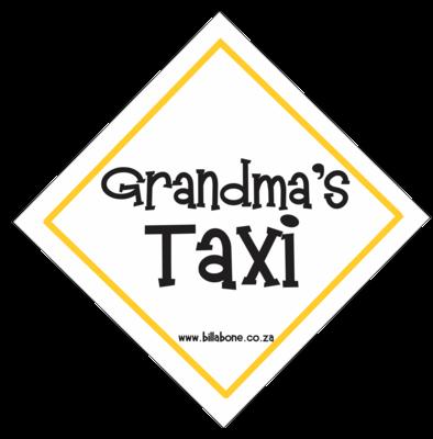Grandma's Taxi Car Sign or Sticker