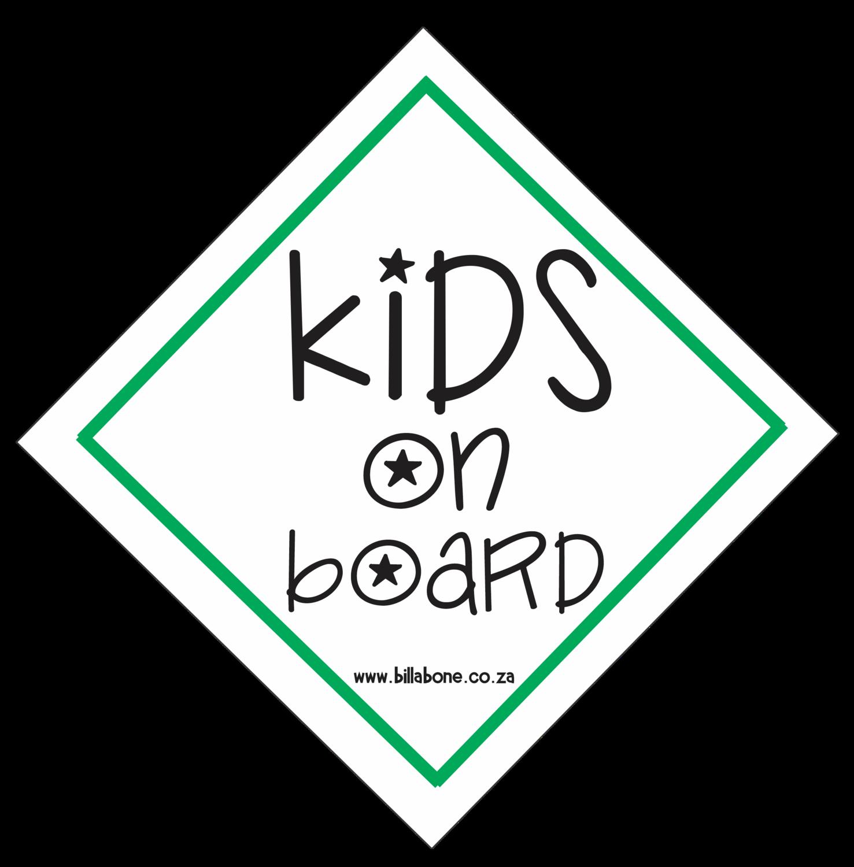 Kids On Board Car Sign or Sticker